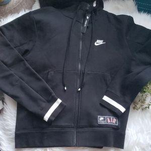 Nike Air Black & White Loose Fit Full Zip Hoodie